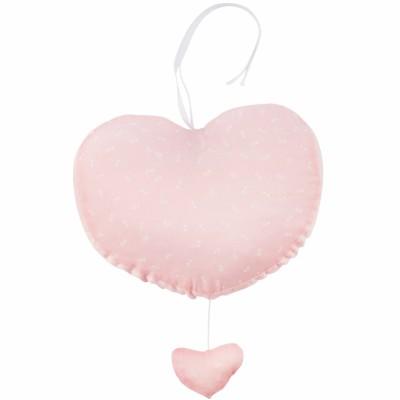 Coeur musical Pink Bows (27 cm)  par Les Rêves d'Anaïs