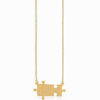 Collier Life puzzle (vermeil doré)  par Coquine