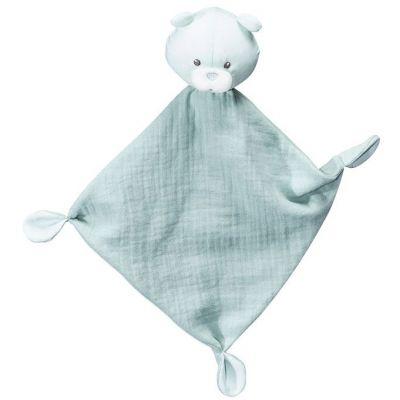 Doudou plat ours Lily mint  par Sauthon