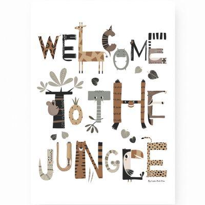 Affiche A3 Welcome to the Jungle  par Lutin Petit Pois