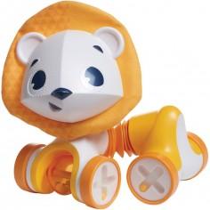 Jouet étirable à rouler lion jaune Leonardo