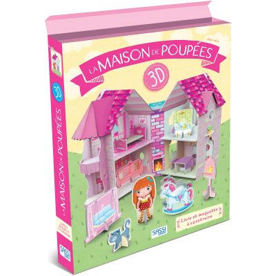 Livre et maquette 3D La maison de poupées Sassi Junior
