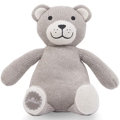 Peluche Natural knit ours taupe clair (28 cm) Jollein
