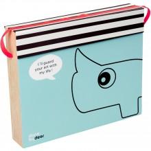 Boîte de rangement bleue pour dessins  par Done by Deer