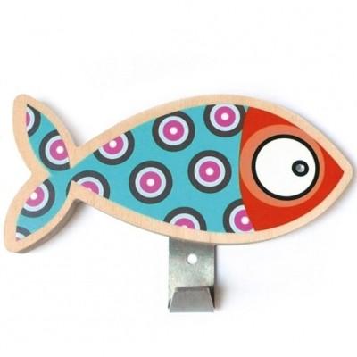Patère poisson bleu  par Série-Golo