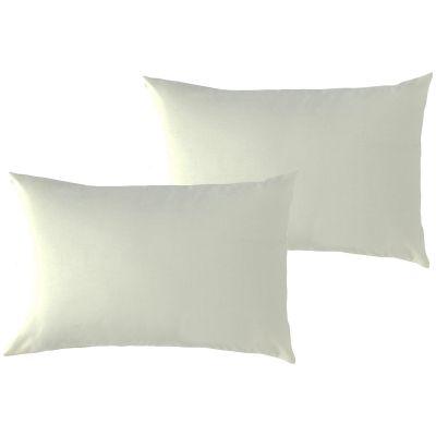 Lot de 2 taies d'oreiller en coton bio écru (40 x 60 cm)  par P'tit Basile