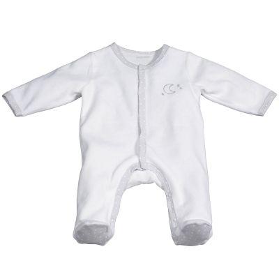 Pyjama chaud blanc lune Céleste (Naissance)  par Sauthon