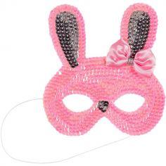 Masque de lapin rose