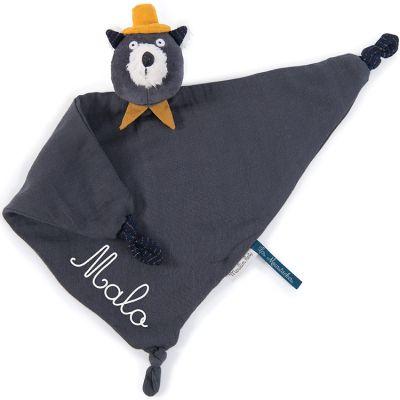 Doudou plat Alphonse le chat Les Moustaches (personnalisable)  par Moulin Roty