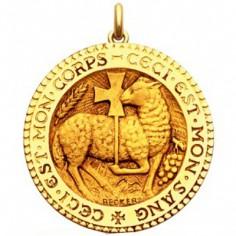 Médaille Agneau Mystique  (or jaune 750°)