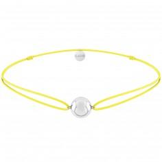 Bracelet cordon jaune Mini bola Joy (argent 925°)