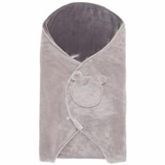 Couverture nomade groloudoux gris clair et gris foncé Mix et Match (0-6 mois)