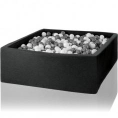 Piscine à balles carrée gris graphite personnalisable (130 x 130 x 50 cm)