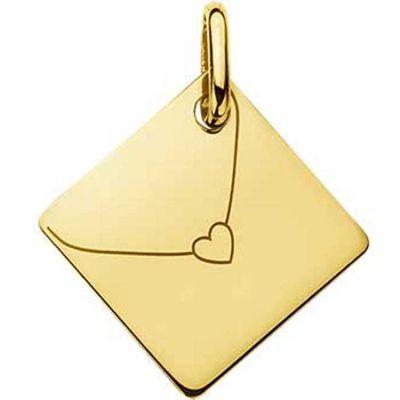 Pendentif Enveloppe coeur (or jaune 750°)  par A.Augis