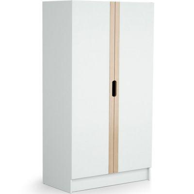 Armoire 2 portes en bois de hêtre verni Carrousel blanc  par AT4