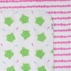 Lot de 2 maxi langes en coton flanelle Tammy la tortue (100 x 100 cm)
