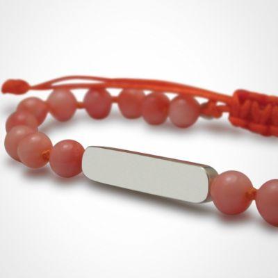 Bracelet Maracas perles (argent 925° et corail)  par Mikado