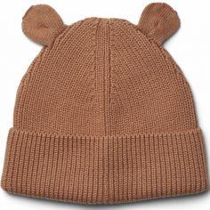 Bonnet ours en coton bio Gina Tuscany rose (9-12 mois)