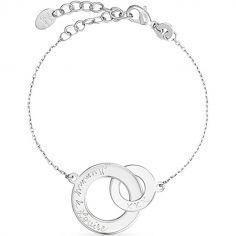 Bracelet Anneaux entrelacés personnalisable (argent 925°)