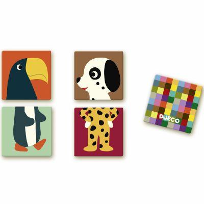 Jeu de memory Mémo puzzle animaux  par Djeco