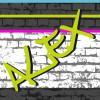 Tableau art de rue gris Alex personnalisable (20 x 20 cm) - Home corner