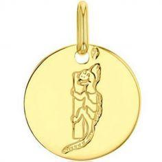 Médaille I comme iguane (or jaune 750°)