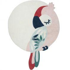 Tapis coton Tropica perroquet rose (120 x 160 cm)