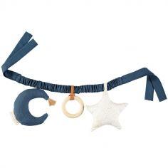 Chaîne d'activités étoile et lune bleu marine
