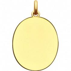 Médaille laïque unie ovale (or jaune 750°)