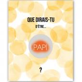 Carte à gratter Annonce de grossesse Aquarelle Papi - Les Boudeurs