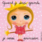 Tableau Quand je serai grande je serai princesse (15 x 15 cm) - Isabelle Kessedjian