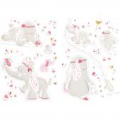 Stickers muraux décoratifs Anna et PIli - Noukie's