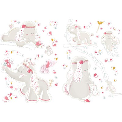 Stickers muraux décoratifs Anna et PIli  par Noukie's