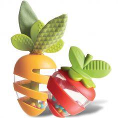 Hochet d'activités carotte et fraise Petite pousse