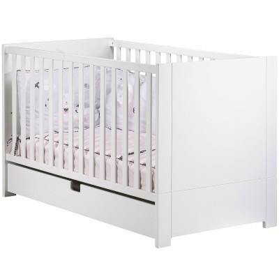 lit b b volutif city blanc little big bed avec son tiroir. Black Bedroom Furniture Sets. Home Design Ideas