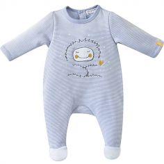 Pyjama Dors bien Petit Yeti rayé (18 mois) - Sucre d orge 63605581ff3