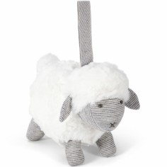 Peluche à suspendre Welcome to the World mouton gris