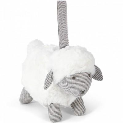 Peluche à suspendre Welcome to the World mouton gris  par Mamas and Papas