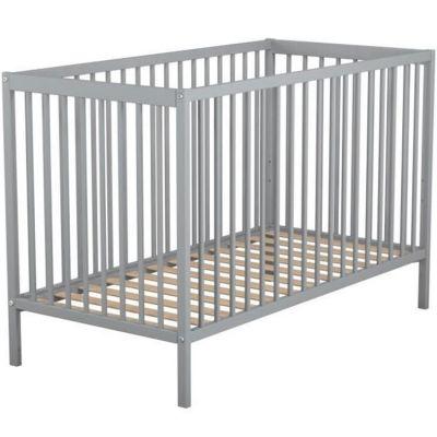 Lit à barreaux en bois de hêtre Essentiel gris (60 x 120 cm)  par AT4