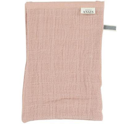 Lot de 2 gants de toilette en mousseline Bliss Rose  par Trixie