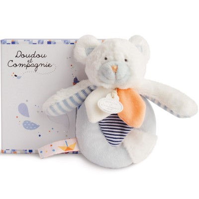 Doudou hochet ours Les Gommettes (13 cm) Doudou et Compagnie
