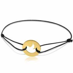 Bracelet cordon enfant Oiseau (or jaune 750°)