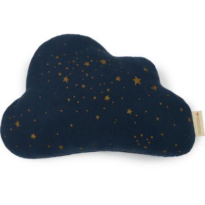 Coussin nuage Gold stella midnight blue (24 x 38 cm) Nobodinoz