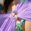 Echarpe de portage Sling Sukkiri violet clair  par Lucky