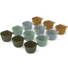 Lot de 12 moules à cupcakes ours Jerry Green multi mix