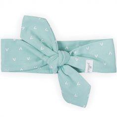 Bandeau bébé Hearts vert d'eau