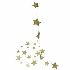 Guirlande étoiles or pailleté