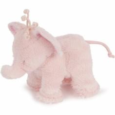 Peluche Ferdinand l'éléphant rose (12 cm)