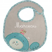 Bavoir chat Les Pachats personnalisable - Moulin Roty
