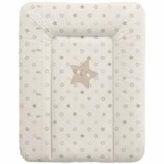 Matelas à langer Confort avec toise étoiles beige (50 x 70 cm)